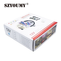 SZYOUMY LED SMD Strip Light RGB 5050 300Leds 5m IP65 Waterproof + 44 Keys IR Remote Controller + 5A Power +colorful box Packing