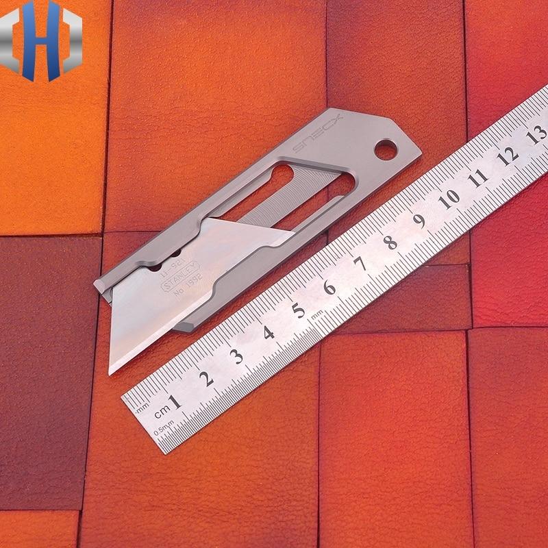 Utility Pocket Express Knife Unpacking Paper TC4 Titanium Knife EDC Knife Geometric Mini Simple