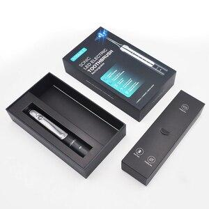 Image 5 - Spazzolino da denti elettrico Blu ray sbiancamento 4 modalità sbiancamento pulito massaggio sonic vibrazione impermeabile 2pcs teste spazzolino da denti elettrico