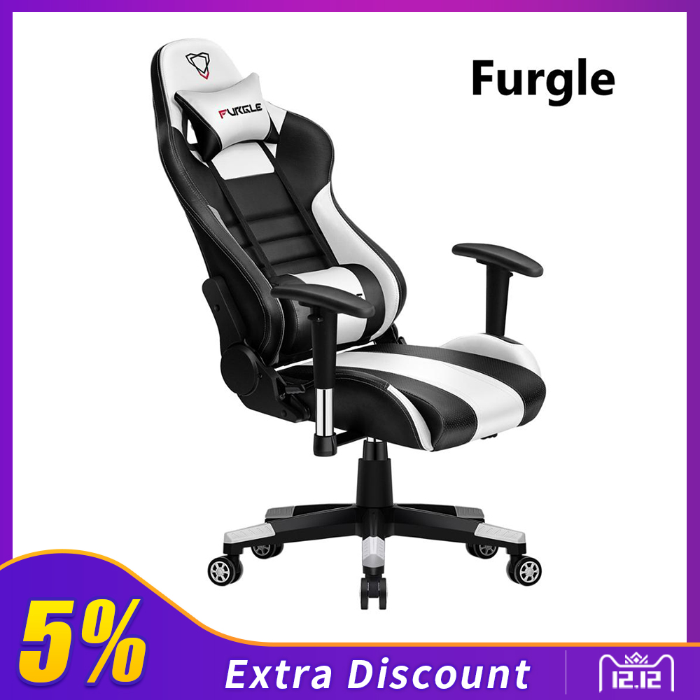 Furgle WCG Gaming Chair Ergonomic Reclining Computer Chair Gaming Artificial Study Chair With PU Leather Boss Chair Office Seats