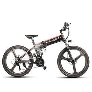 electric bike Mountain Electric Bicycle 48V 10AH 500W Folding Mountain Bike for Adult 21 Speed Off Road eBike