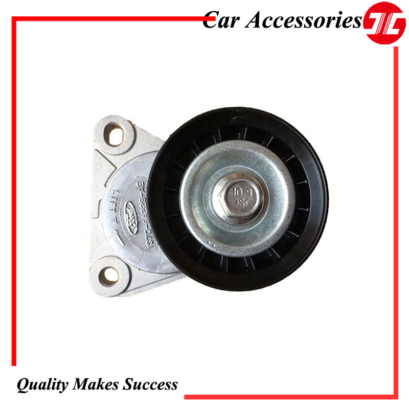 Original 1S7Q 6A228 AE /1371224  Fan Drive Belt Tensioner Pulley for Ford Mondeo and Transit Diesel Engine Car Auto Parts