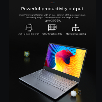 KUU K2S For Intel Celeron J4115 14.1-inch IPS Screen All Metal Shell Office Notebook 8GB RAM 256GB/512GB SSD with type C laptop 3
