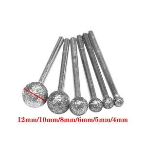 Image 5 - 6 sztuk/partia okrągłe diamentowe ściernice do Dremel narzędzia obrotowe narzędzia diamentowe do granitu diamentowe Burs Dremel narzędzia akcesoria