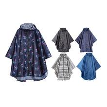 Freesmily Womens Fashion Raincoat Waterproof Rain Poncho Cloak with Hood for Hiking Climbing and Touring