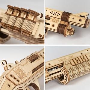Image 4 - Robotime Gun Blocks, модель Buliding Kit, игрушки, подарок для детей, Детский день рождения, день рождения мальчика, подарок