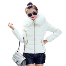 Winter Coat Women Black Pink 3XL Plus Size Loose Fur Hooded Parkas 2019 New Fashion Red Zipper Pockets Thick Warmth Jacket LD397(China)