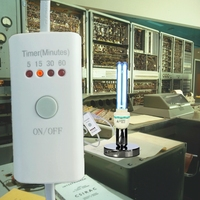 4-Step Timer E27 bulb holder w/ Quartz UV Germicidal Table Lamp 15w 25w 36w for Kill Dust Mite eliminator