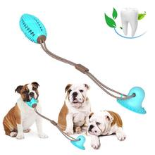 Pet Dog Toys Silicon Suction Cup Tug dog toy Dogs Push Ball Toy Pet Tooth Cleaning Dog Toothbrush for Puppy large Dog Biting Toy pet dogs rubber rod feed toy dog chew toy for dog tooth clean rod of extra tough rubber puppy toy biting resistance pet supplies