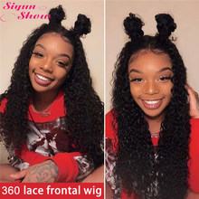 Siyun Show 30inch Deep Wave Wig 13x6 Lace Front Human Hair Wigs Pre Plucked 360 Full Lace Wig Remy Brazilian Human Hair Wig(China)