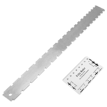 Guitar Neck Notched Straight Edge Luthiers Tool with String Action Ruler Gauge for Gibson 24.75 Inch and Fender 25.5 Inch Electr stainless steel dual scale guitar neck notched straight edge luthiers tool measurement fretboard and frets