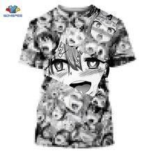 SONSPEE Japan Hentai Anime Ahegao T Shirt 3D Print Summer Ca