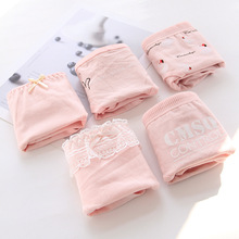 Panties Briefs Underwear Teenage Girls Sales Cotton Cartoon XL 5pc/Lot Intimates Pink