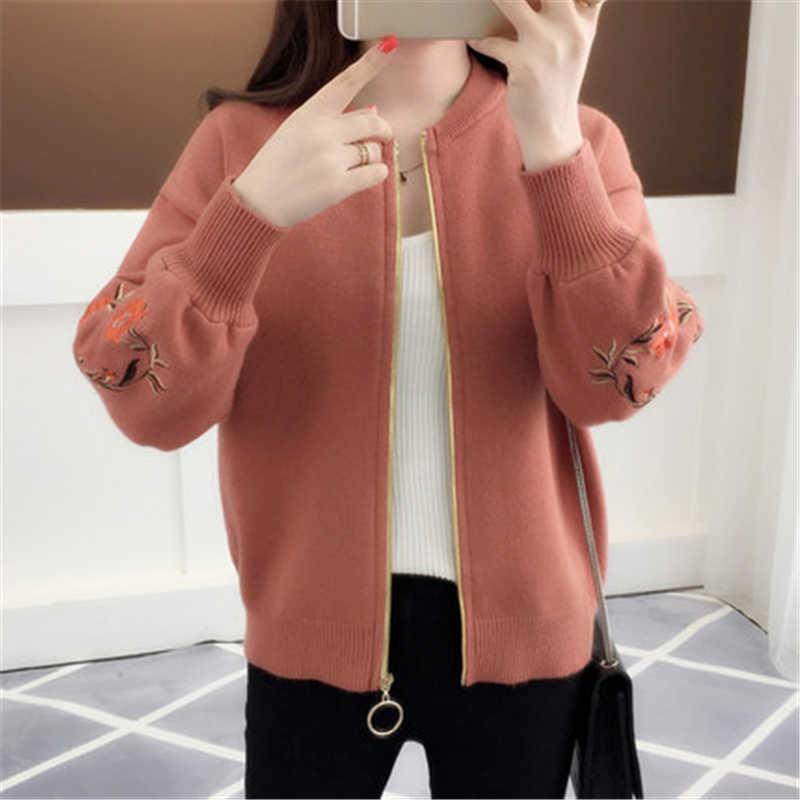 여자의 긴 소매 스웨터 패션 가을 탑 카디건 여성 캐주얼 따뜻한 스웨터 숙녀 우아한 옷 LWL527
