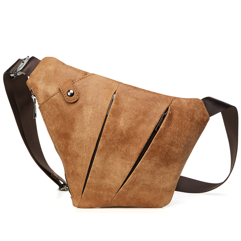 Men PU Leather Chest Bags Shoulder Crossbody Traveling Male Sling Pack Sack Molle Blaso Mochila Outdoor Sport