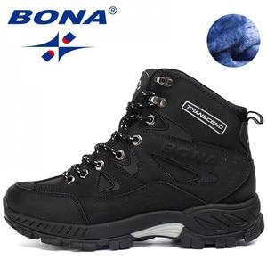 Image 1 - BONA החדש הגעה גברים נעלי הליכה אנטי להחליק חיצוני ספורט נעלי הליכה טרקים טיפוס סניקרס Zapatillas מגפיים נוחים