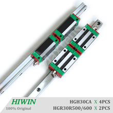 HIWIN HGR30 Heavy Load 500 600mm Linear Guide Rail and Blocks HGH30CA Carriage for High Quality CNC Rail Components Machine