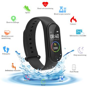 m4 Smart Band Pedometer Wristband Sport Bracelet Fitness Tracker Smart Watch Heart Rate Blood Pressure Monitor Smartband цена 2017