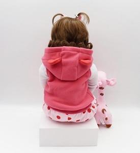 Image 4 - 19インチ48センチメートルベベ女のリアルな人形ベビー新生児のおもちゃ子供のためのクリスマスプレゼントや誕生日ギフト笑人形おもちゃ