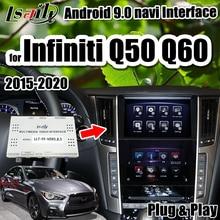 Lsailt Android 9.0 Đồng Hồ Định Vị GPS 3G RAM Video Hỗ Trợ Giao Diện Không Dây Carpaly/Android Tự Động Cho Infiniti 2015 19 Q50 Q60