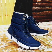 Fashion Mens Winter Warm Snow Mesh Boots Men Fur Rubber Ankle Work Military Breathable Outdoor Shoes