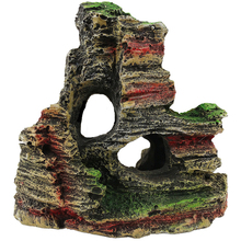4 Styles Fish Tank Resin Rockery Ornament Hiding Cave Landscape Underwater Decor Pet Accesories