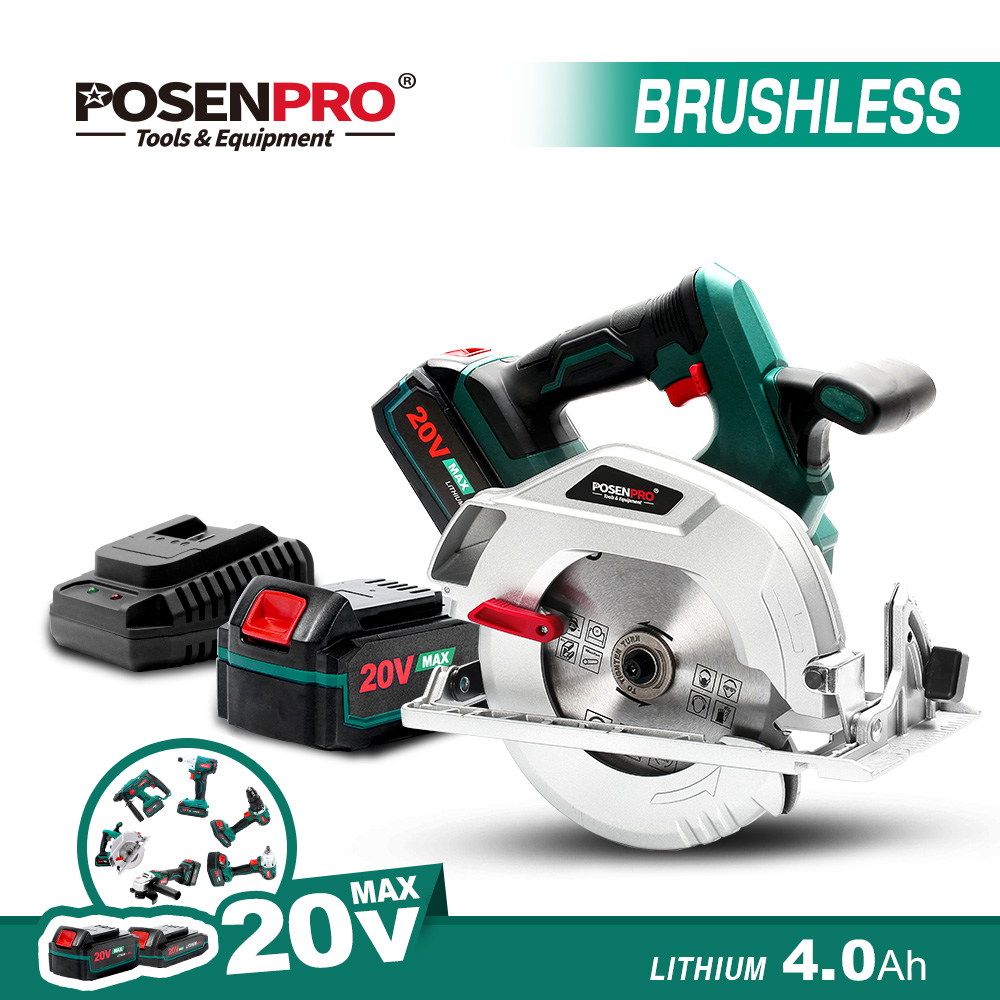 20V Electric Circular Saw Brushless Cordless Circular Saw Parallel Guide Cutting Wheel