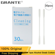 100% Original IQOS Clean Cotton Alcohol Swabs Tool For IQOS Plus Cleaning Stick Vape E-Cigs Alcohol Swabs 1Box 30PCS 30pcs eucommia ulmoides 100