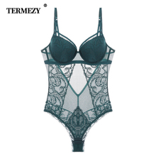 TERMEZY New High Elasticity Lingerie Lace Corset and Bustier Push Up Bra Sexy Lace Bustiers Charming Transparent Underwear Women