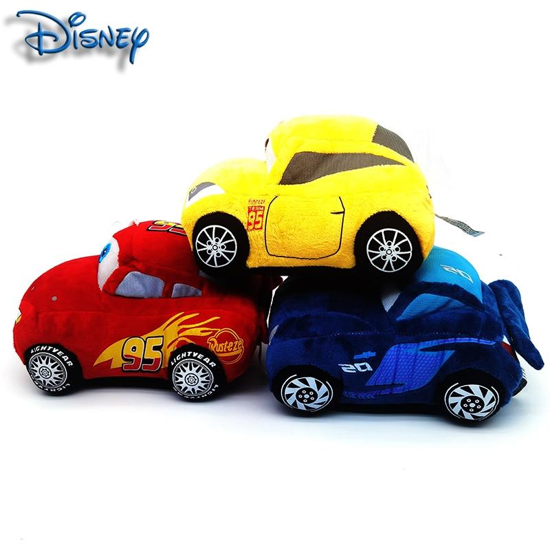 Disney Pixar Car Plush Toy 19cm 3 Colors McQueen Cute Cartoon Car Plush Toy Children's Birthday Christmas Gift