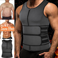 Sauna Waist Trainer Corset Vest for Men Weight Loss Sweat Vest Double Tummy Control Trimmer Belts Neoprene Workout Body Shaper