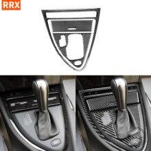 สำหรับ BMW 6Series E63 E64 2004 2010สีดำคาร์บอนไฟเบอร์สติกเกอร์อัตโนมัติ Shift Panel กรอบกล่องเก็บภายในรถอุปกรณ์เสริม
