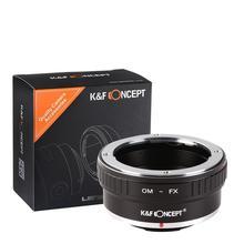 K & F Concept adaptador para lente de montaje OM Olymous a Fujifilm X Pro2 M1 T20 OM FX, X T2 de cámara de X M2 X T20 X T3
