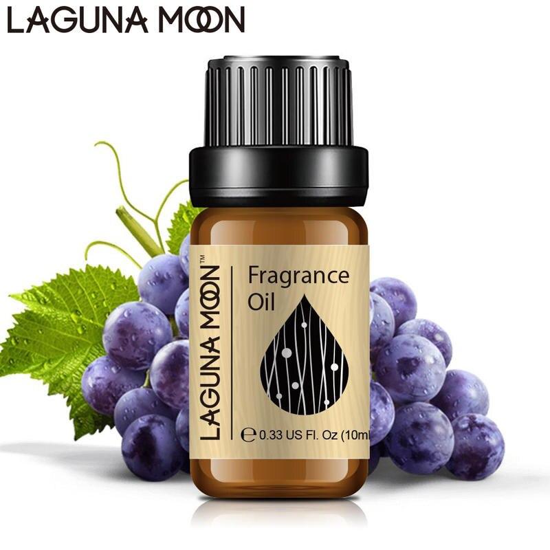 Lagunamoon Grape Fragrance Oil Cedarwood Ginger Juniper Citronella Ylang Camphor Vanilla Cypress Raspberry 10ML Essential Oils