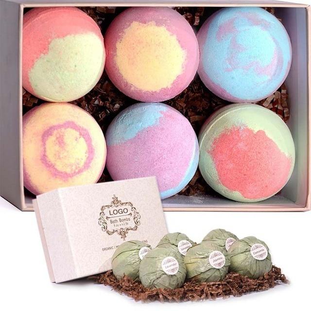 bath bomb badzout Organic Bath Salt Ball Natural Bubble Bath Bombs Ball Rose Green Tea Lavender Lemon Milk Dropshipping SMJ 2