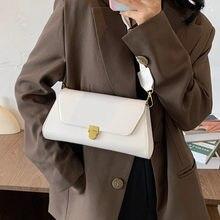 Women Simple Shoulder Underarm Bag Female Fashion Trendy Baguette Handbag Lady High-Quality Chain Messenger Crossbody Bags
