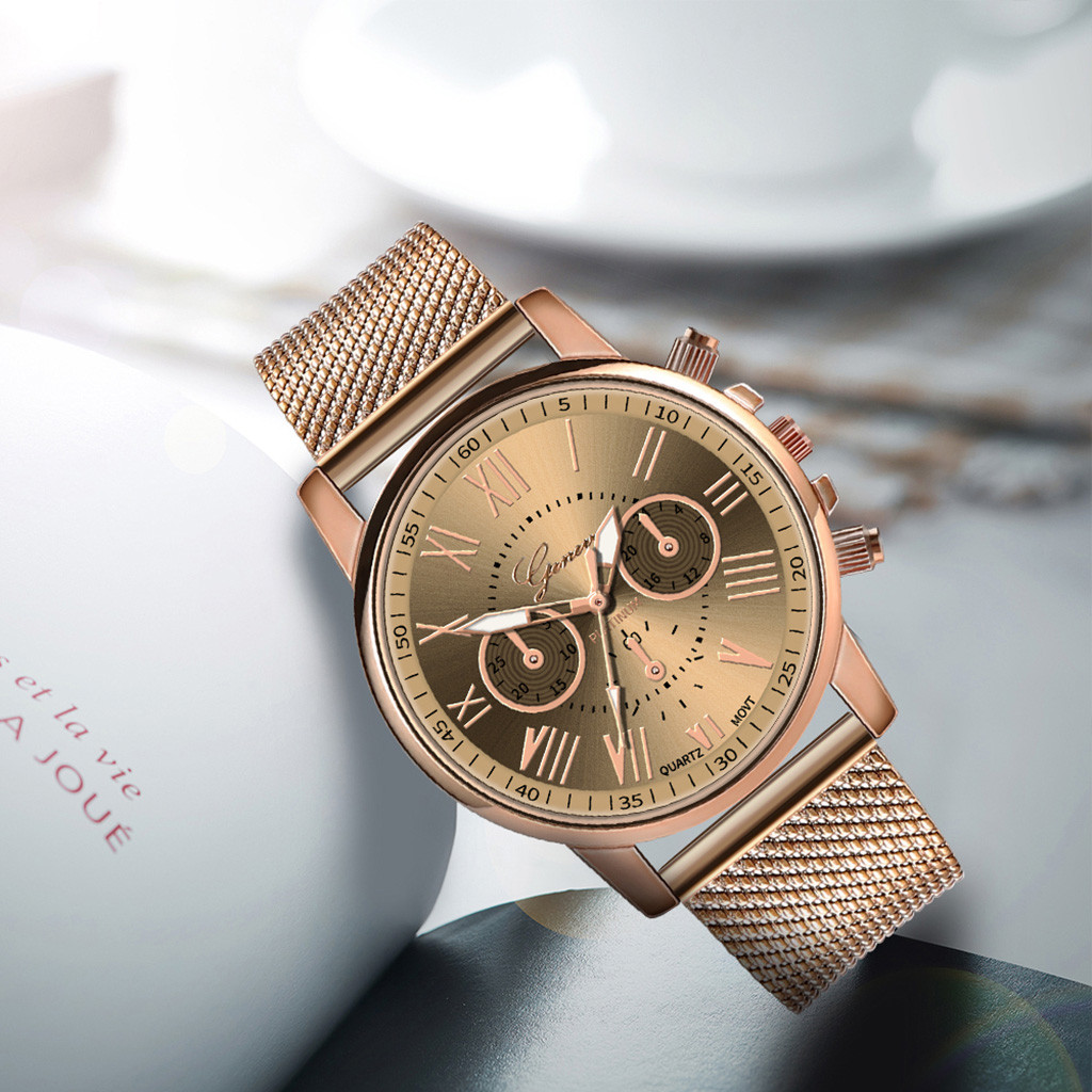 Роскошные Кварцевые часы для женщин и мужчин влюбленные пара Женские наручные часы Миланская нержавеющая сталь циферблат новое поступление