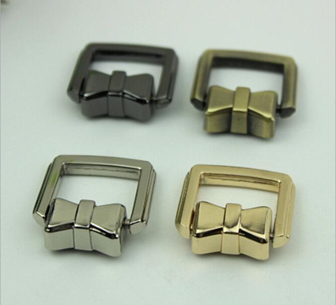 (10 Pcs/lot) Luggage Handbag Hardware Accessories Bow Strap Chain Link Bag Hook Belt Buckle