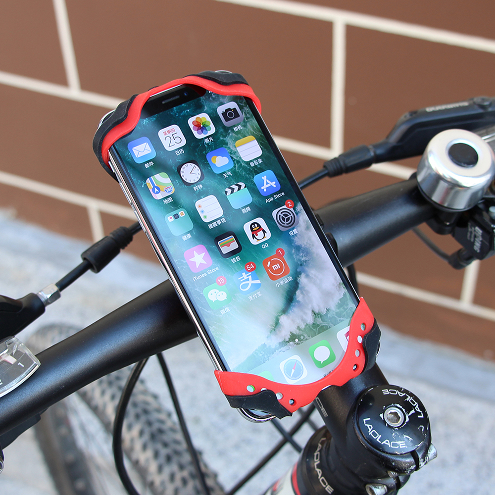 1Pcs GUB P8 Silica Gel Mobile Phone Bracke Universal Power Silicone Mobile Phone Protection Holder For Bicycle Electric Vehicle image