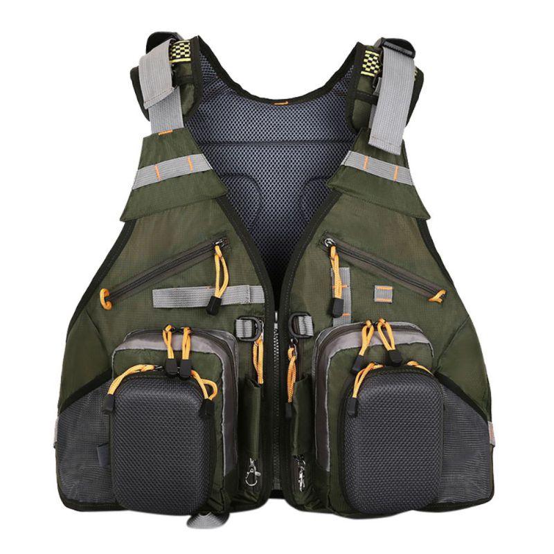 Gilet extérieur sacs à dos Sport photographie pêche réglable respirant multi-poches gilet sacs à dos