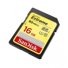 Карта памяти Sandisk Extreme SDHC Card 16GB 90MB/s Class 10 UHS-I U3