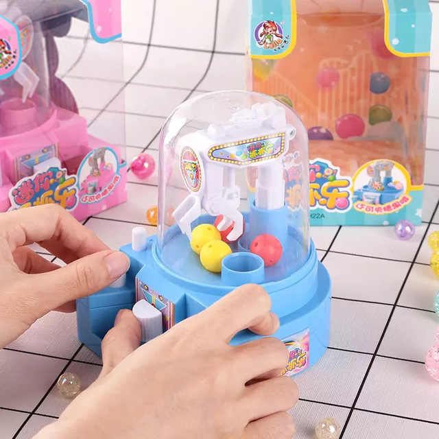 Mini Candy Grabber Machine Toy Claw Arcade Crane Sweets Claw Machine Funny Game Toys For Children Dolls Gift