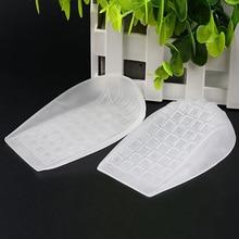 1 пара пятки коврик диванная подушка амортизация облегчение боли в ногах мягкие стельки с подпятником чашки Увеличение роста женщин и мужчин
