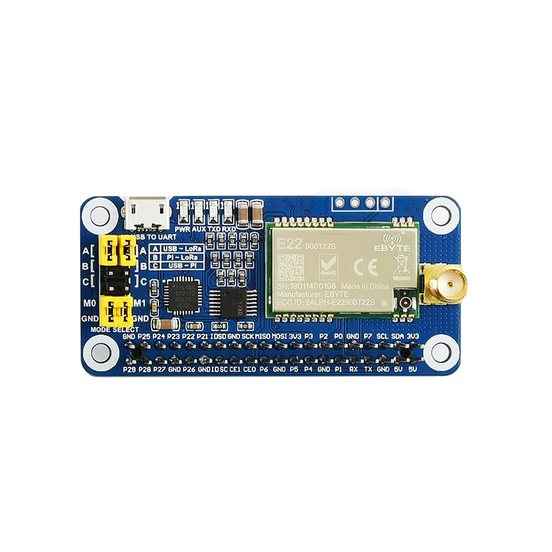 Raspberry Pi SX1262 / 1268 LoRa Wireless Communication Module 433/470/868 / 915MHz Band