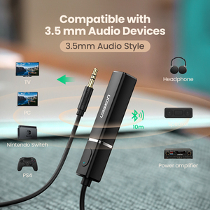 Image 4 - Bluetooth трансмиттер Ugreen, Bluetooth 5.0 наушники для ТВ, ПК, PS4, aptX LL, 3,5 мм, AUX, SPDIF, оптический и аудио разъем 3,5 мм, адаптер для музыки Bluetooth 5.0