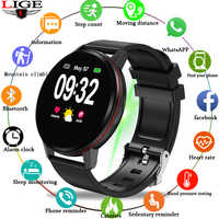 LIGE 2019 New Black Casual Fashion Smart Watch Mens Fitness Tracker Top Brand Luxury Waterproof Pedometer Clock Smart Wristband
