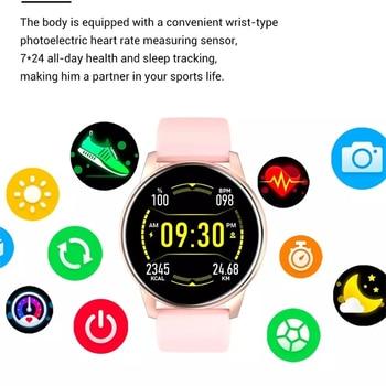LIGE 2021 New Smart Watch Women Full Touch Screen Sport Fitness Watch IP67 Waterproof Bluetooth For Android ios smart watch Men 5