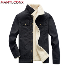 MANTLCONX Winter Jacket Men Bomber Air Force Pilot Warm Male Fur Collar Army Tactical Mens Jackets and Coats 4XL