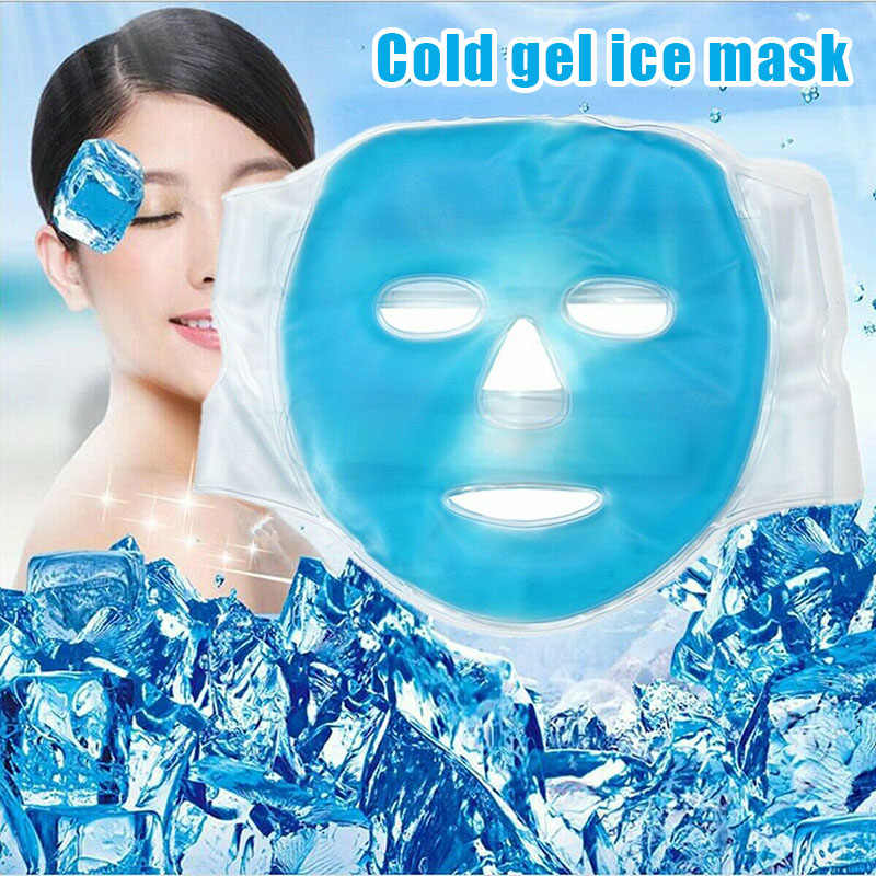 Hot sale Full Face Mask Cooling Soothing Hot Gel Mask Facial Beauty Skin Massage Health Care