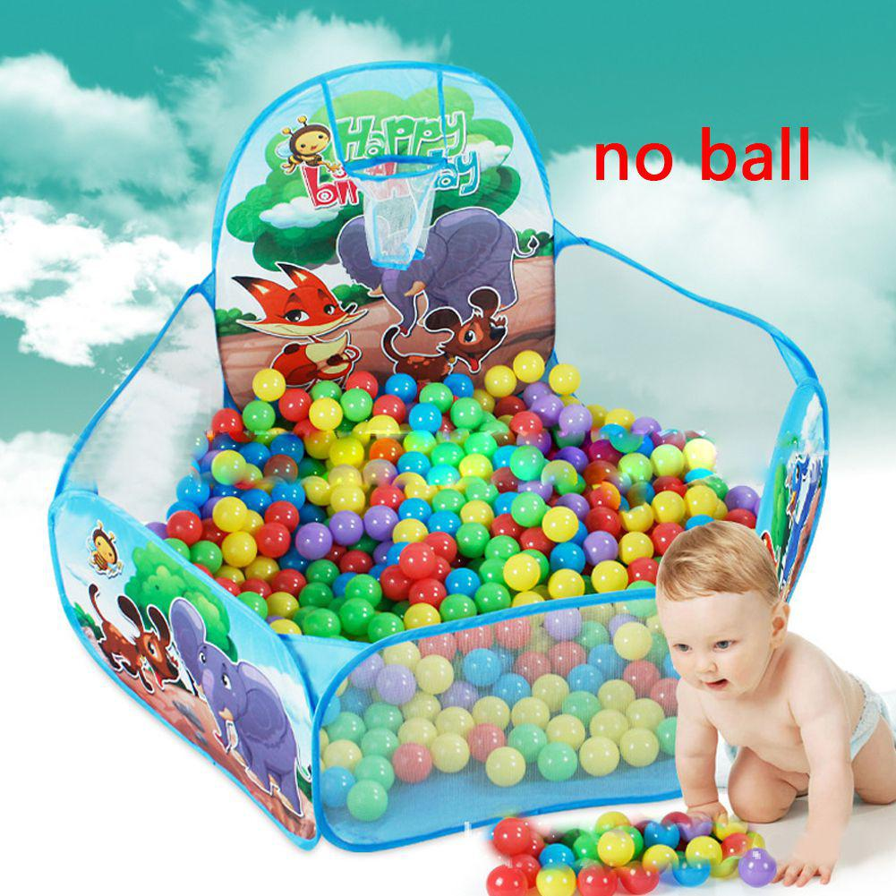 Kid Ball Indoor Game Dinosaur 1.2m Basketball Hoop Ocean Pool Tent Ball Pits Kids Toys For Boy ( No Ball )